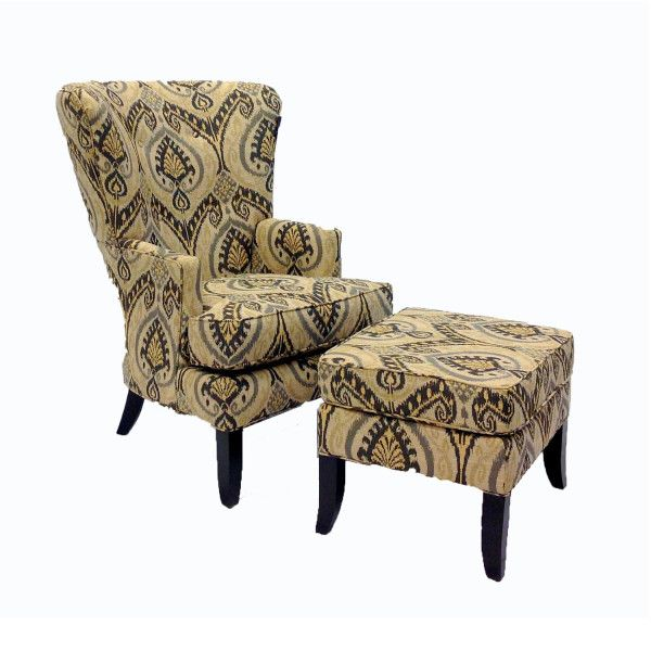 Swell J Henry 1316 18 1316 38 Riley Accent Chair And Ottoman Theyellowbook Wood Chair Design Ideas Theyellowbookinfo