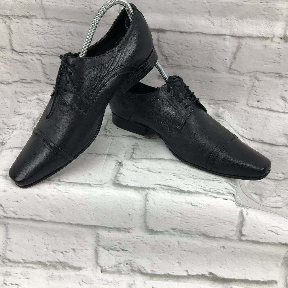 Cns Premium Men S Leather Lace Up Shoes Size 8m Euro 41 Black Dress Italy Cns Loafersslipons Slip On Dress Shoes Dress Shoes Men Black Leather Dress Shoes [ 1000 x 1000 Pixel ]