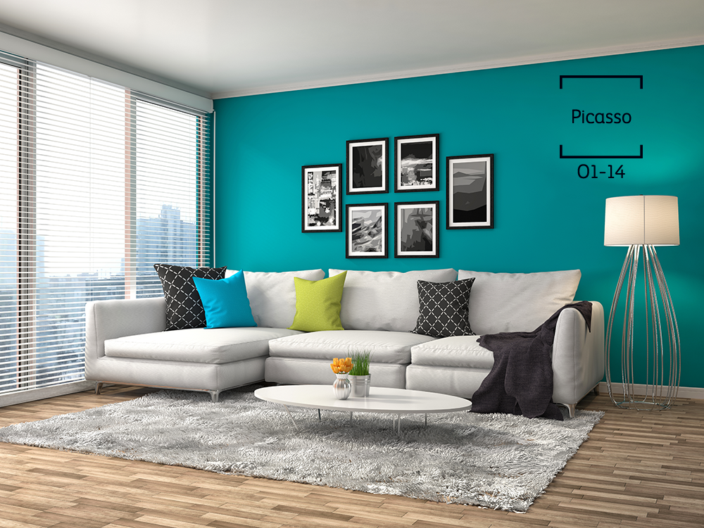 Convierte Tu Sala En Toda Una Obra De Arte Usando Ingenio Y Los Colores Teal Color Schemeswall