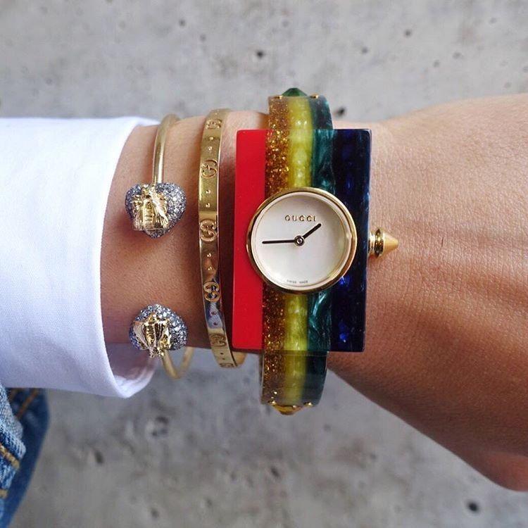 038a4847422 Gucci Multicolor Rainbow Plexiglass Watch