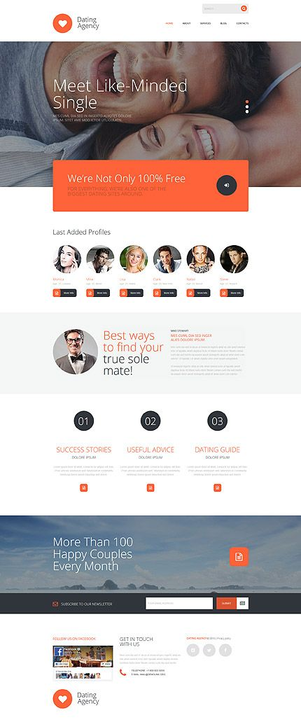Dating website template wordpress business