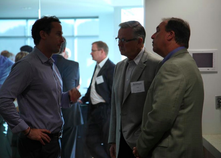 Sage's CEO Greg Wells and guest speaker Brent Gleeson. #LeadershipEvent
