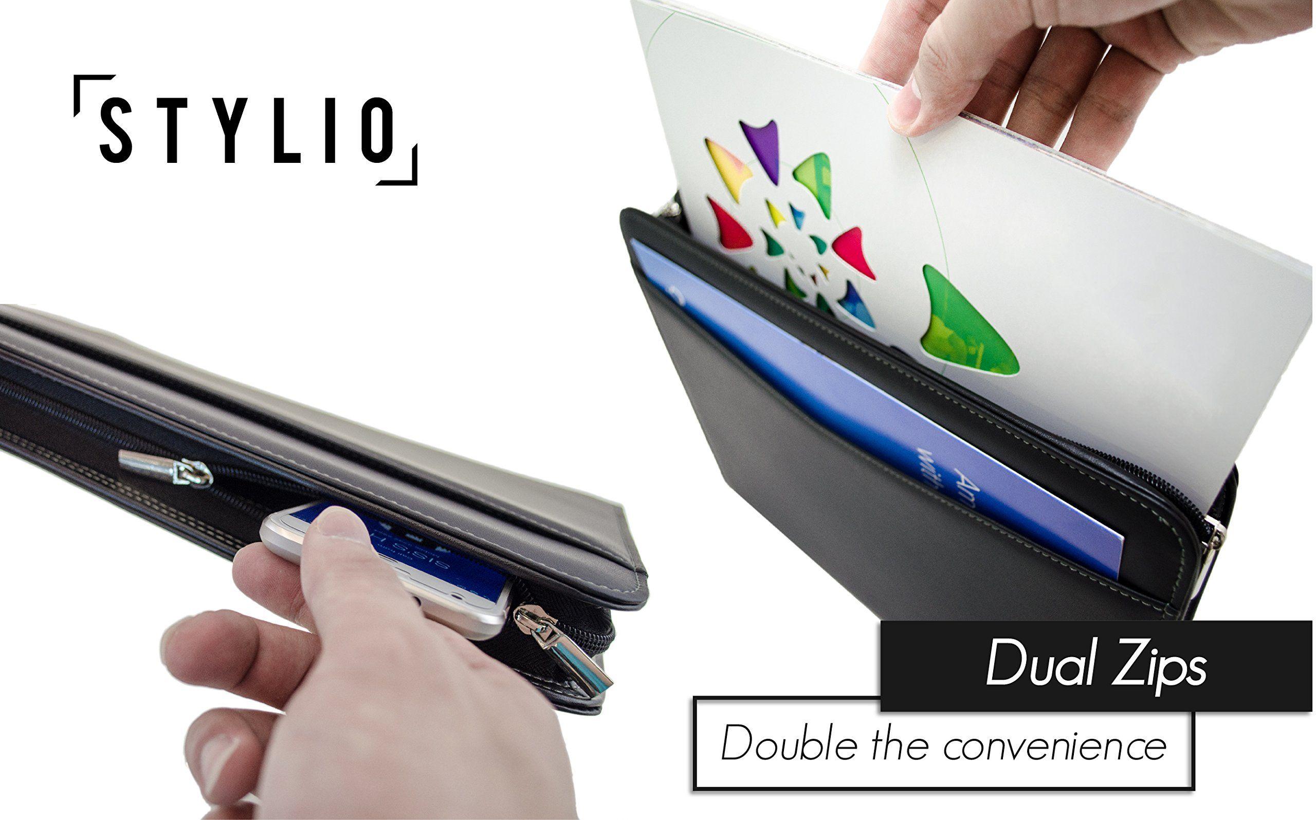 Stylio zippered padfolio portfolio binder interview and