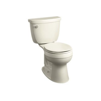 Kohler Cimarron Comfort Height Two-Piece Round-Front 1.28 GPF Toilet with Aquapiston Flush Technology, Left-Hand Trip Lever and Insuliner Tank Line...