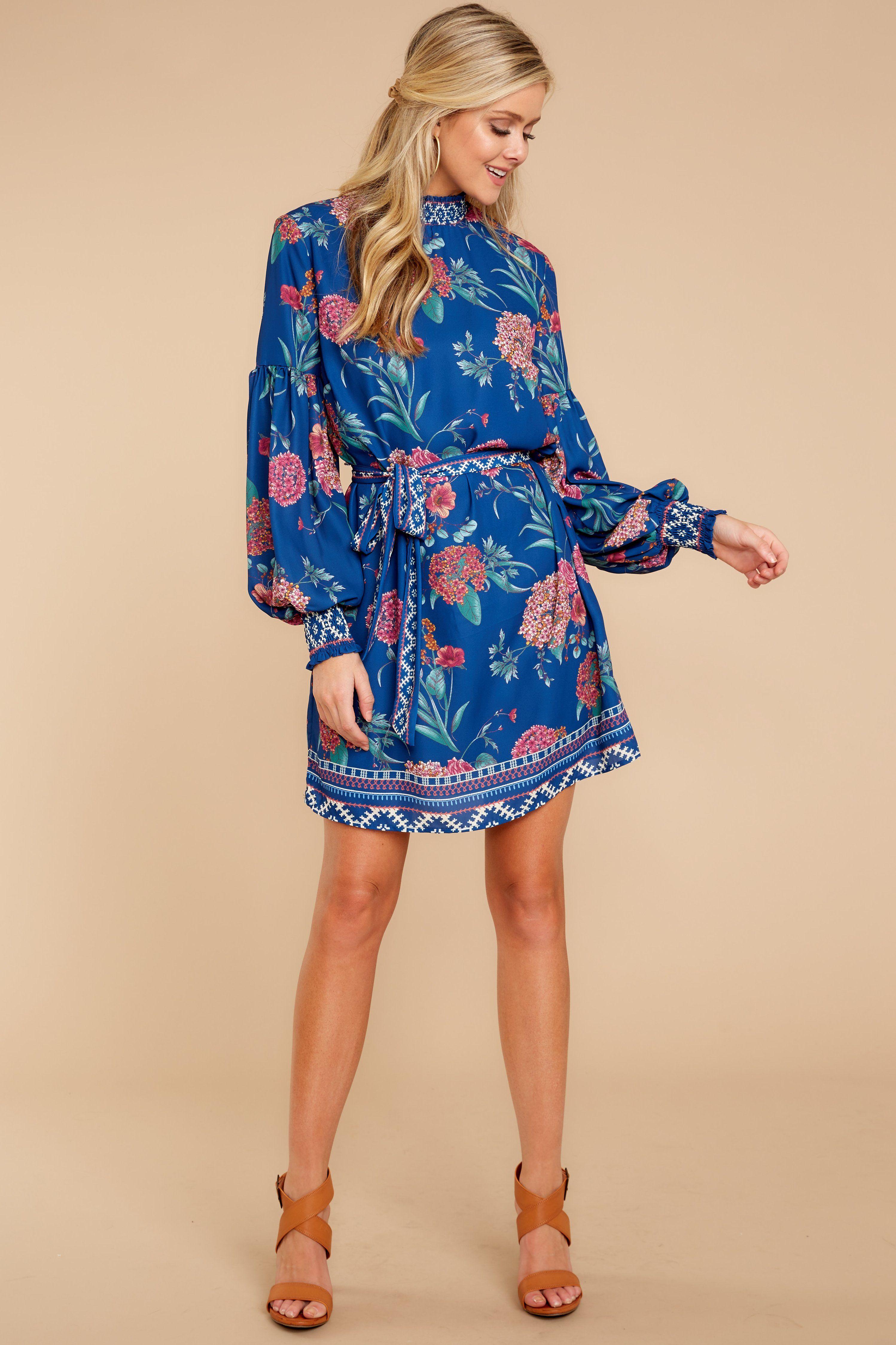 8e4b9c2aaf Chic Blue Floral Dress - Short Floral Print Dress - Dress -  44.00 – Red  Dress Boutique
