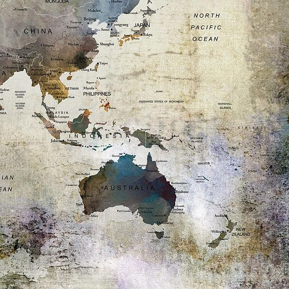 Large watercolor world map print world map wall art detailed print large watercolor world map print world map wall art detailed print push pin world map with countries and cities if you need extra large format gumiabroncs Gallery