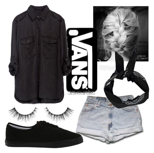 """""""How to wear black"""" by gabriela-27-99-11 ❤ liked on Polyvore featuring Vans, Zara and Boohoo"""
