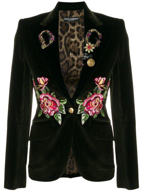 Pinterest Velvet Gabbana Green Blazer Embellished amp; Dolce wfUYqBxzp