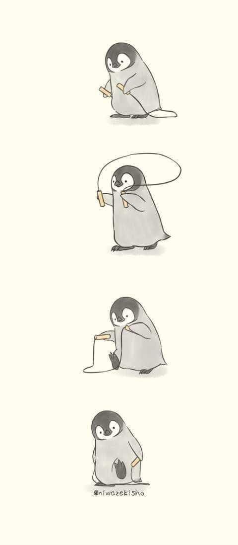 Being a penguin is not easy... - penguin post