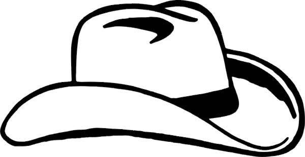 Cowboy Hat Coloring Page | Free | Download | vectors | Pinterest ...