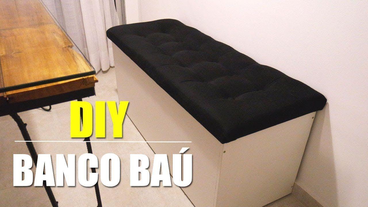 Diy Banco Bau Com Capitone Canto Alemao Com Imagens Banco