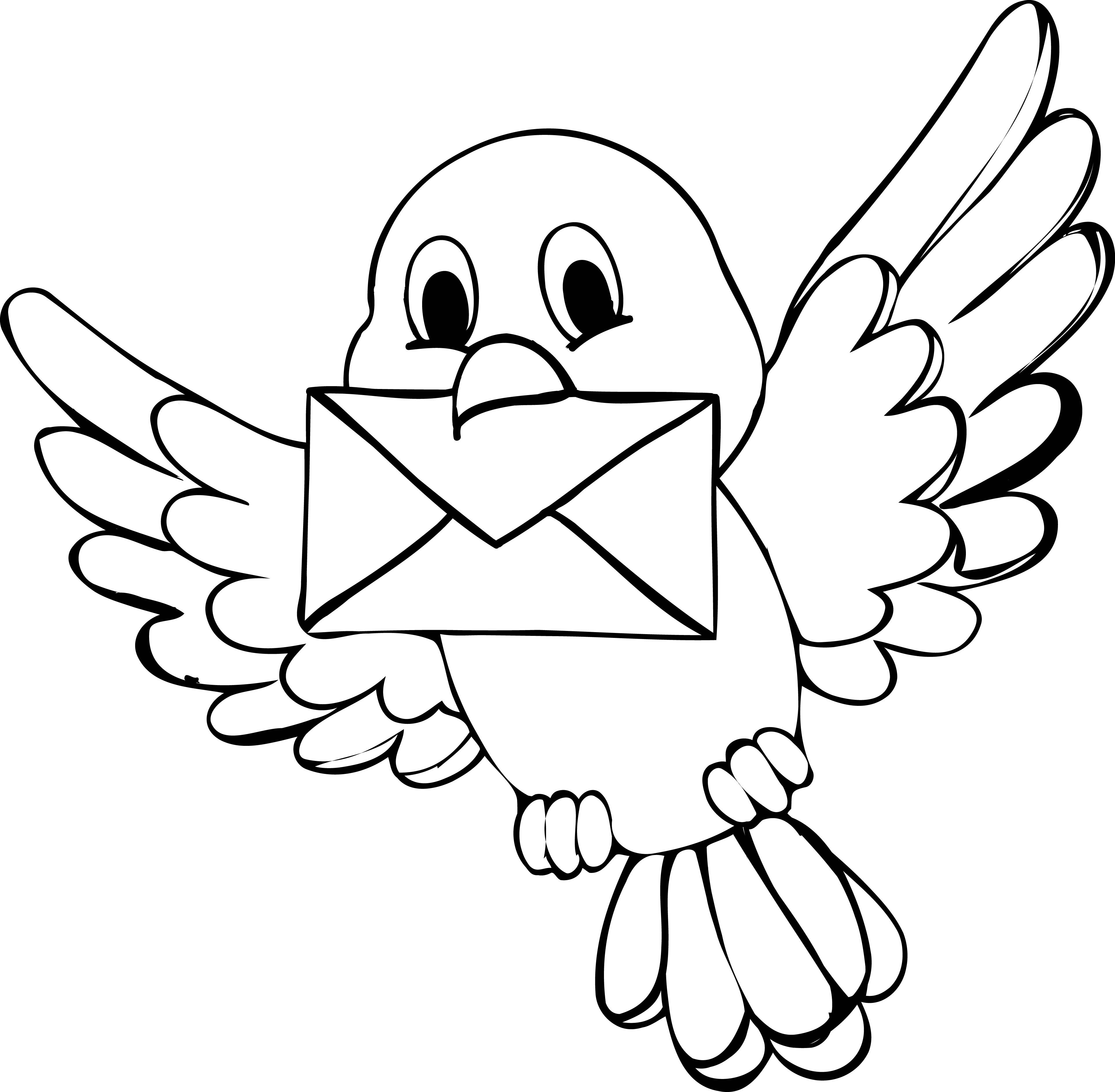 Cute Bird Coloring Page | Bird coloring pages, Easy ...
