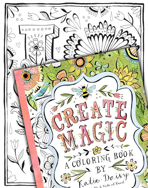 Free Sample Coloring Page Create Magic A Coloring Book By Katie Daisy Coloring Books Whimsical Art Coloring Pages