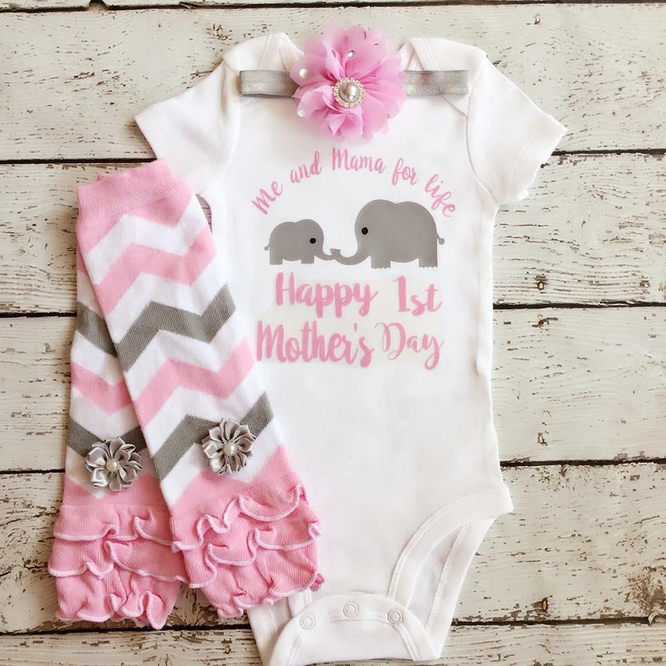 First Mother's Day Mother's Day Outfit / Baby Girl 1st