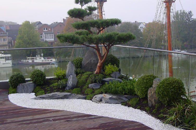 japanischer Garten auf Dachterrasse, traumhaftes Wohnen im - kleiner japanischer garten