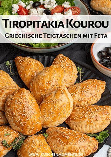 Tiropitakia Kourou (Griechische Schafskäse-Teigtaschen) #buffet