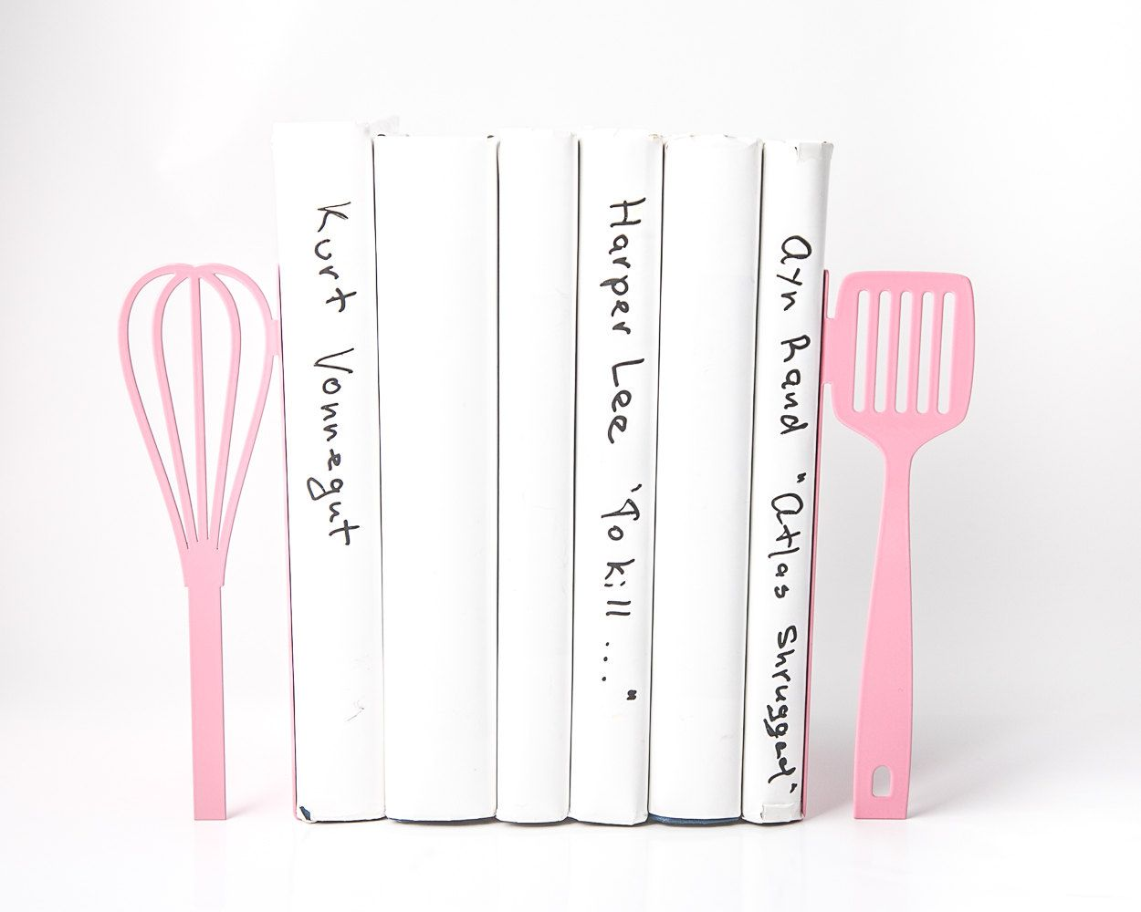Unique Metal Kitchen Bookends // Spatula And Whisk // Decorative Holders //  Functional Decor For Your Kitchen / Modern Home