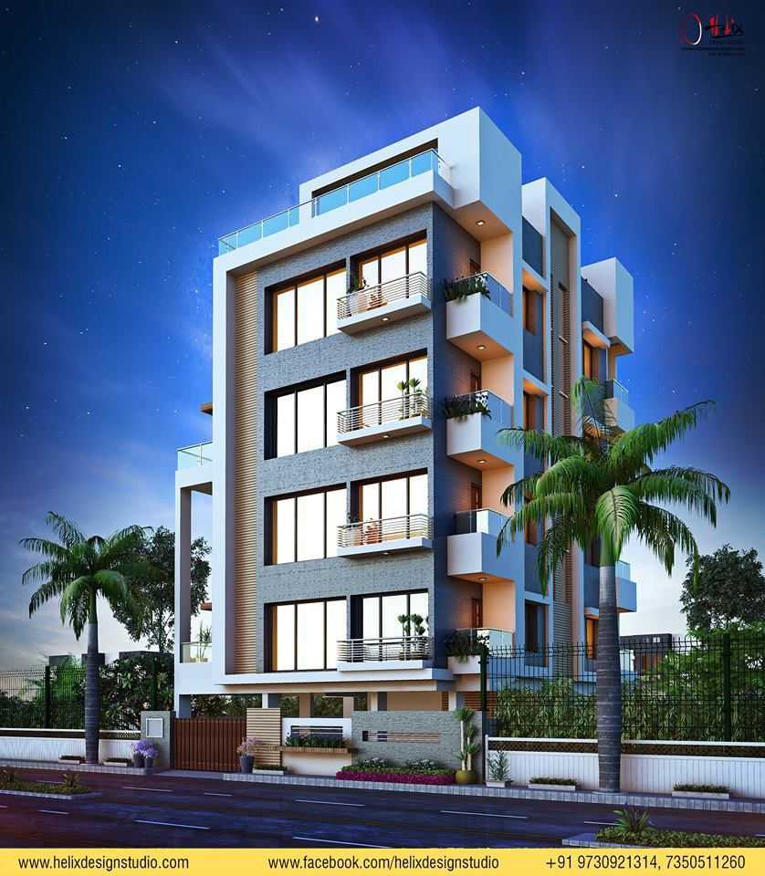 Helix Design Studio is part of Small apartment building - Hi Friends Residential Apartment visual     We would like to share with you My new 3d Work  Modern 3d Architecture rendering & Visualization 2018 Design