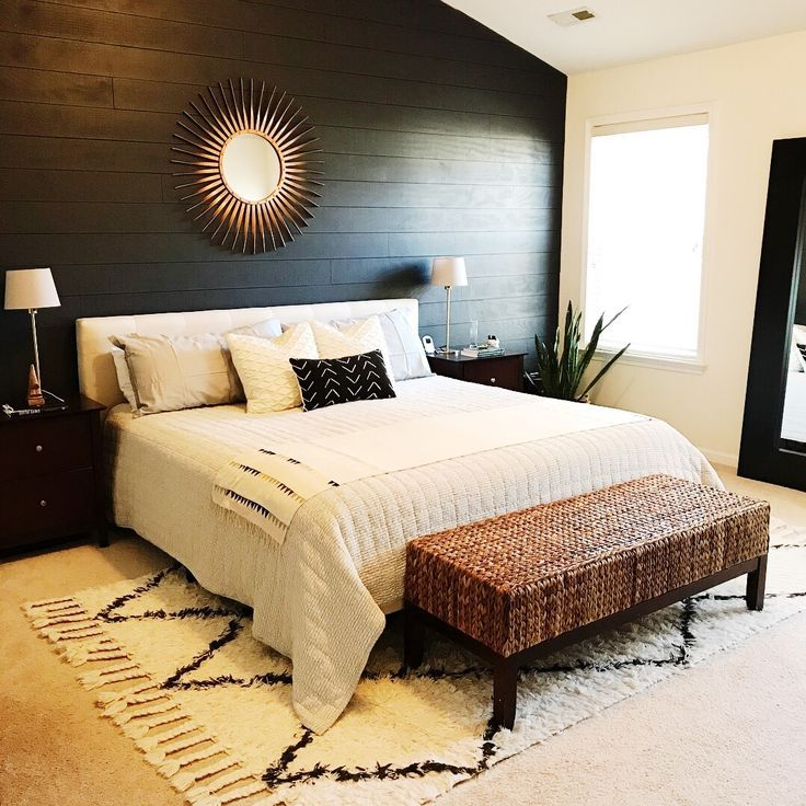 livingoncrust master bedroom refresh, black shiplap wall ...