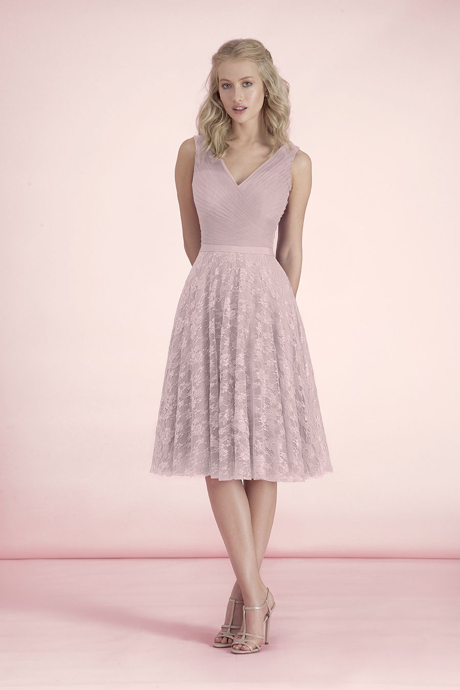 50094 front tea length bridesmaid dresses bridemaid