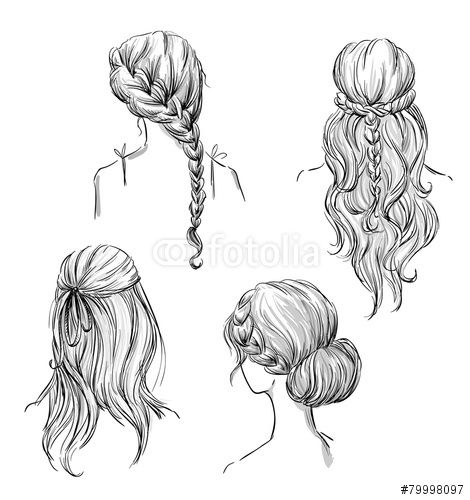 Drawing Hairstyles Profile Google Search Girl Hair Drawing Hair Illustration Hair Sketch