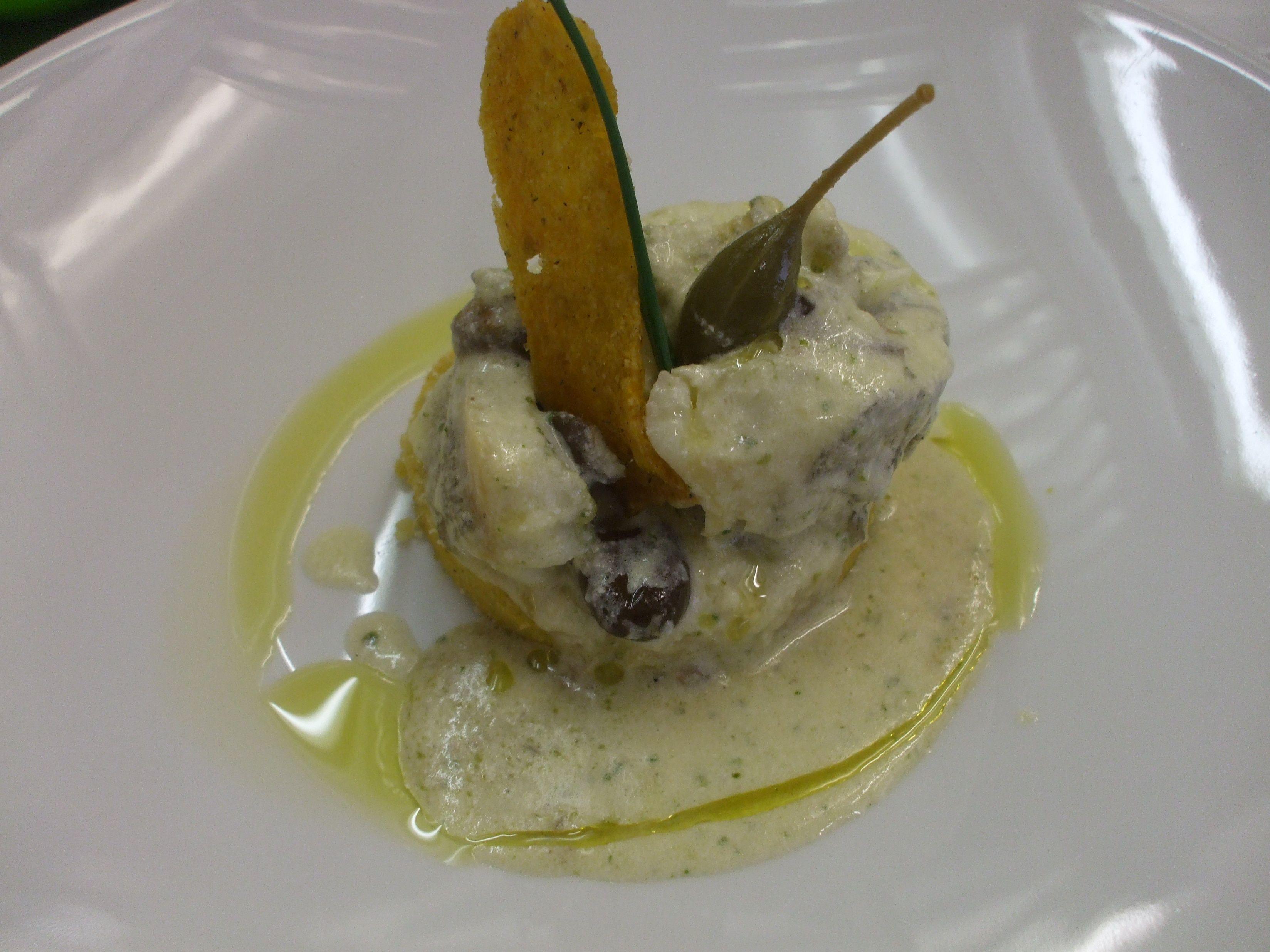 Merluzzo cotto nel coccio con polenta