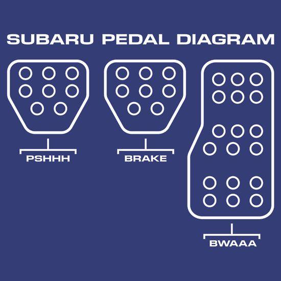 Subaru Pedal Diagram Unisex T Shirt Speeeeeeeeeeeeeeeed