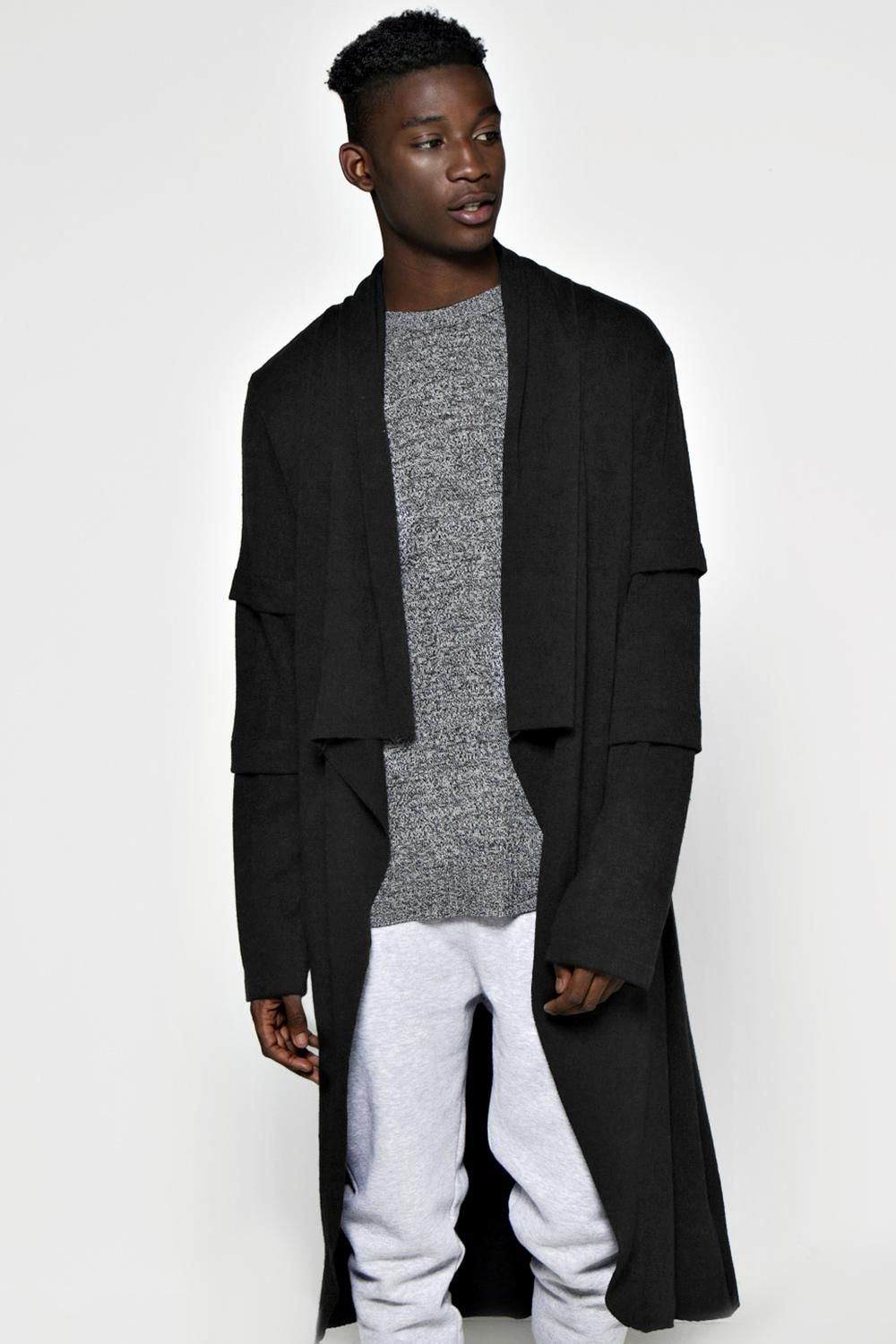 Waterfall Faux Layered Draped Cardigan at boohoo.com | Cardigans ...
