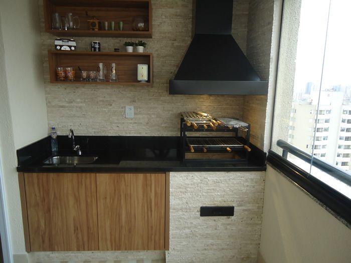 Churrasqueira Para Varanda De Apartamento Com Coifa Pintada Cv6