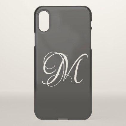 Customize it black monogram iphone x case customize it black monogram iphone x case trendy gifts cool gift ideas customize negle Images