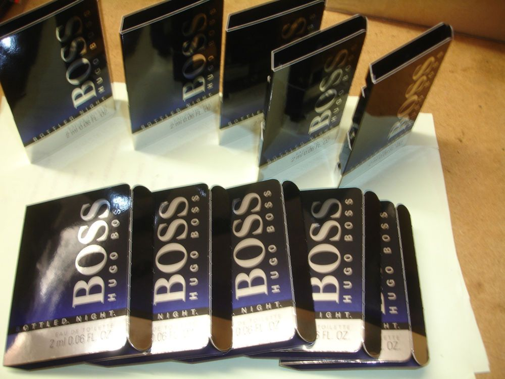 10 Mens Aftershave Samples Hugo Boss Bottled Night Vials Lot Wedding Favours In Health Beauty