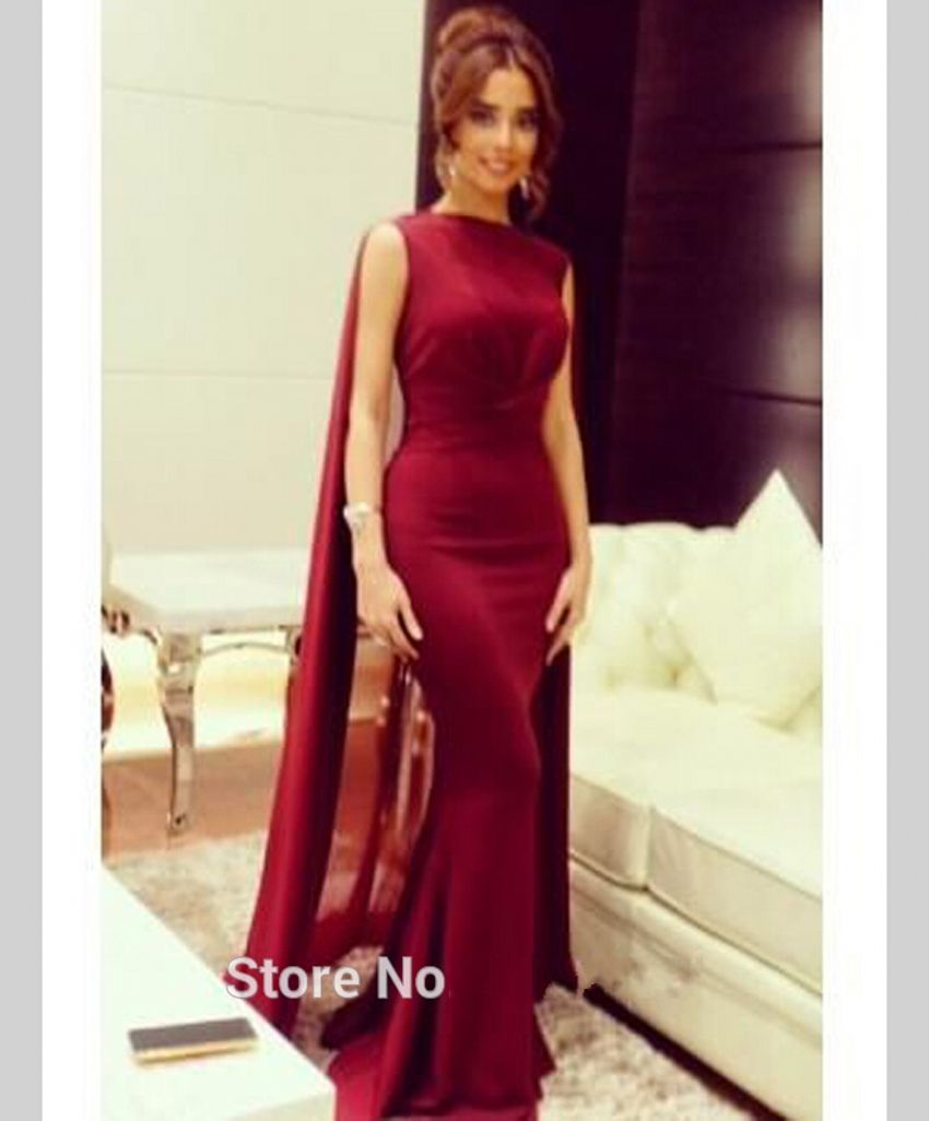 Click to buy ucuc muslim mermaid long wine red evening dresses
