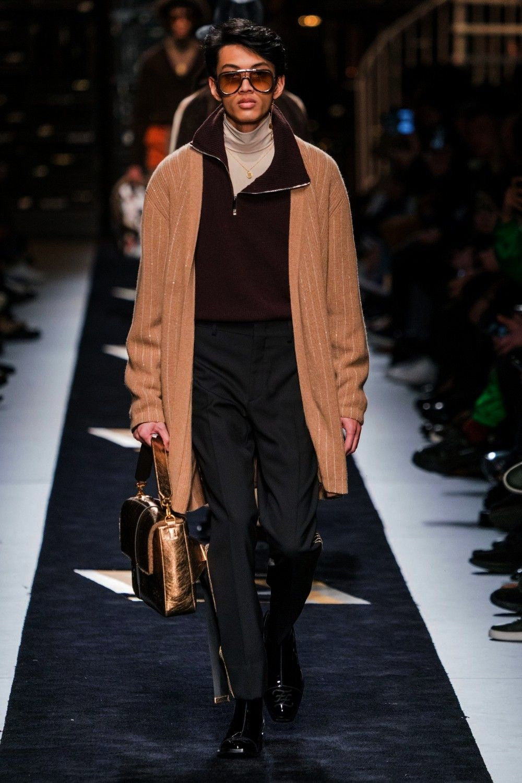 2019 Menswear Fashion Show -Fendi Fall 2019 Menswear Fashion Show -  Male Fashion Trends: AMI Alexa