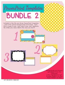 Powerpoint templates bundle 2 teacher teacher stuff and included in this file are three powerpoint templates each with custom backgrounds and frames each toneelgroepblik Choice Image