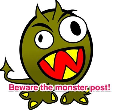 saving my life to make it worth living - Beware of monster Tumblr posts!