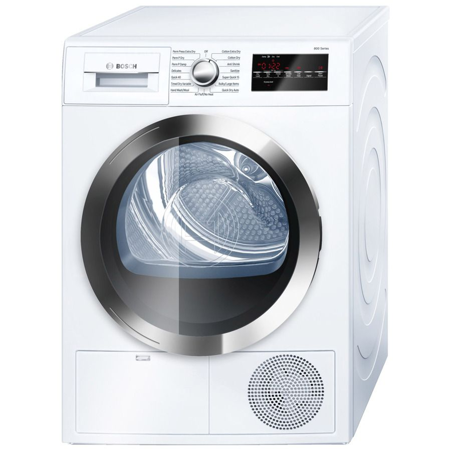 Bosch 800 4 Cu Ft Stackable Ventless Electric Dryer Whi Lowes Com Electric Dryers Ventless Dryer Compact Washer And Dryer