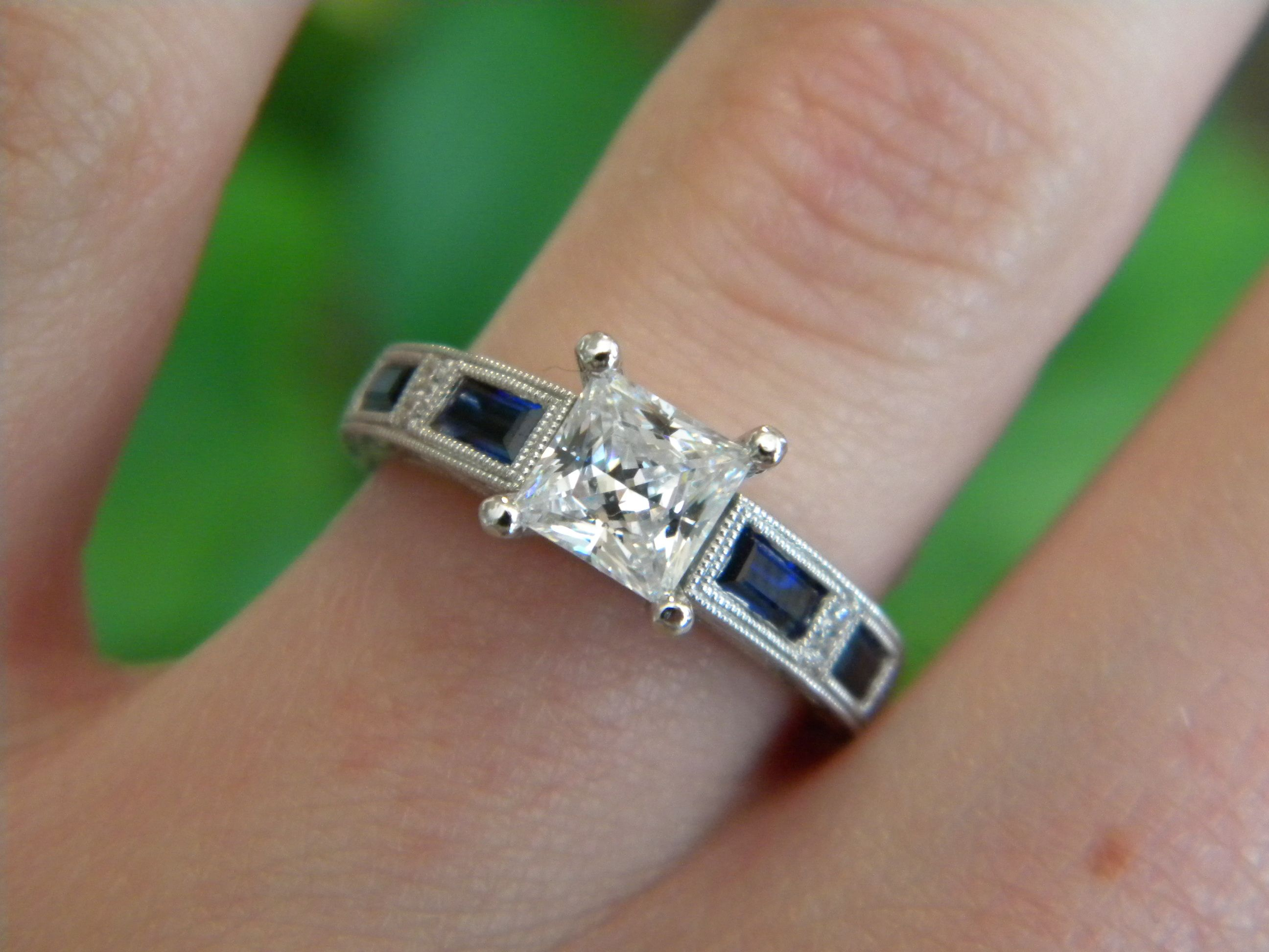 kirk kara enement ring with sapphire inlays from diana jewelers - Hippie Wedding Rings