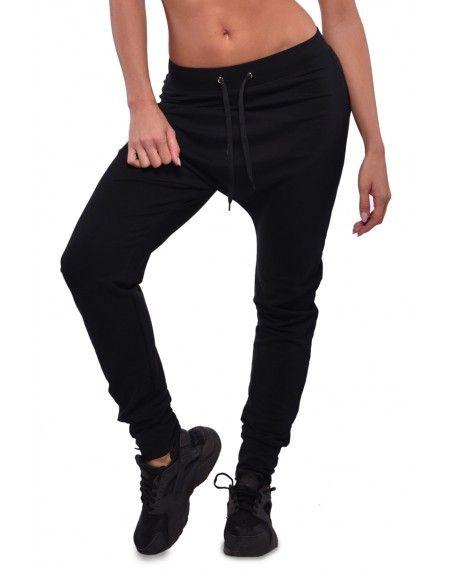 02a380c237 Fekete női melegítő nadrág Ülepes divatos nadrás pamut nadrág utcai viselet  NDNSPORT.COM