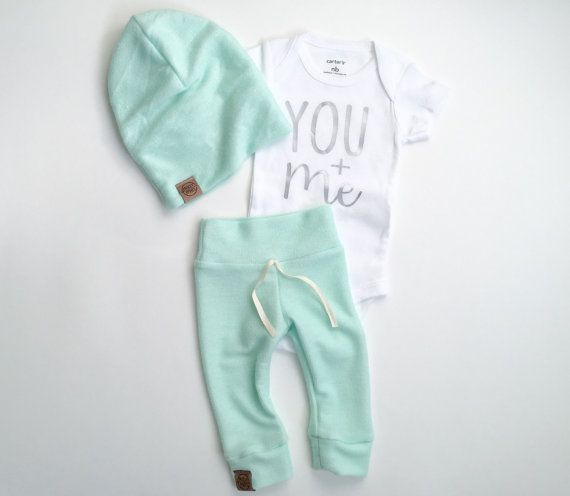 Soft Mint Neutral Newborn Outfit Baby Take Home Outfit Neutral Baby Clothing Gender Neutral Baby Unisex Baby Outfit Mint Baby Neutral Baby Clothes Newborn Outfit Baby Clothes