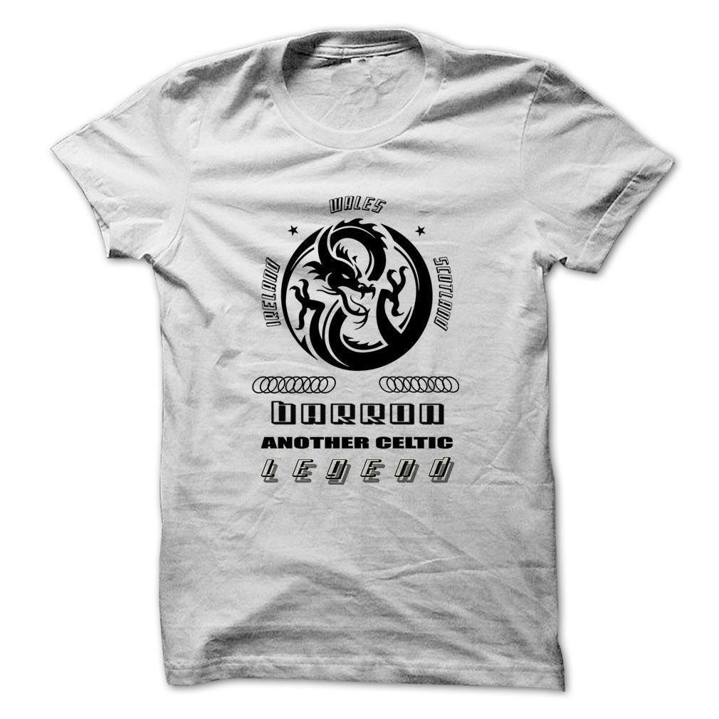 6525a4a3b93 Legend BARRON ... 999 Cool Name Shirt ! T Shirts