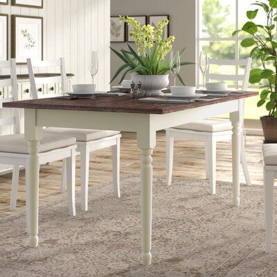 Lark Manor Asuncion Dining Table Solid Wood Dining Table Dining