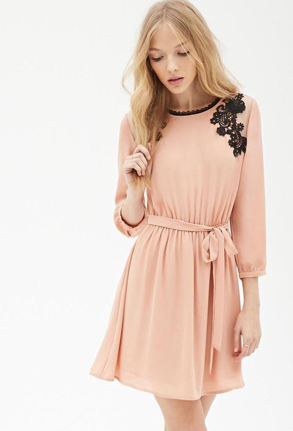 Crochet Embroidered Chiffon Dress Http Picvpic Women Dresses Forever21 Blush Ref Qa8lwa