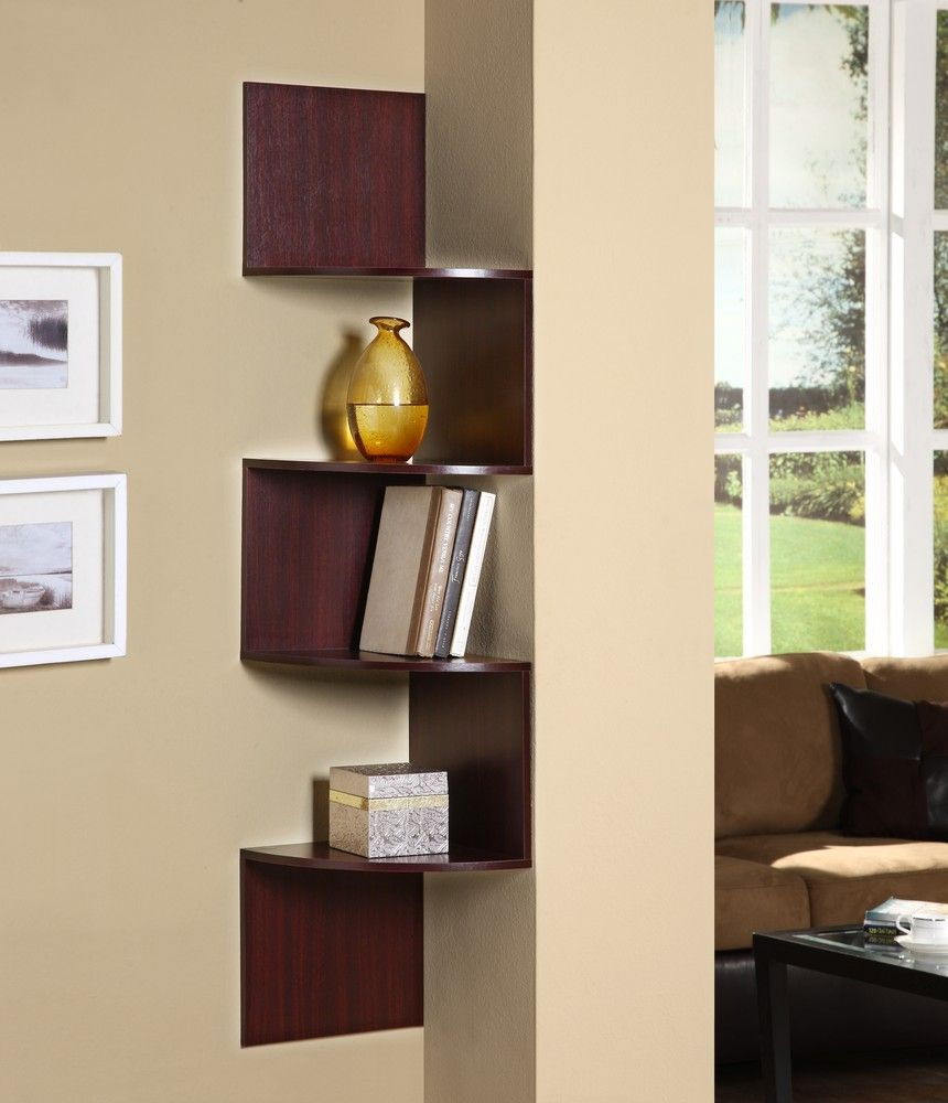 Amazing Hanging Corner Storage In Cherry   4D Concepts   99600   Wall Shelf,  Shelving