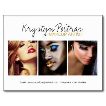 Fully Customizable Makeup Artist Comp Card Post