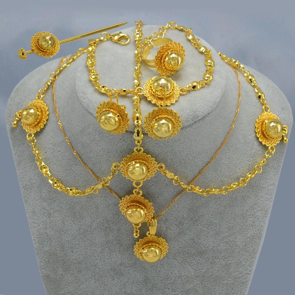 f01f7fed6 Beautifully Gold Plated Traditional Wedding/Bridal Habesha Jewelry Set