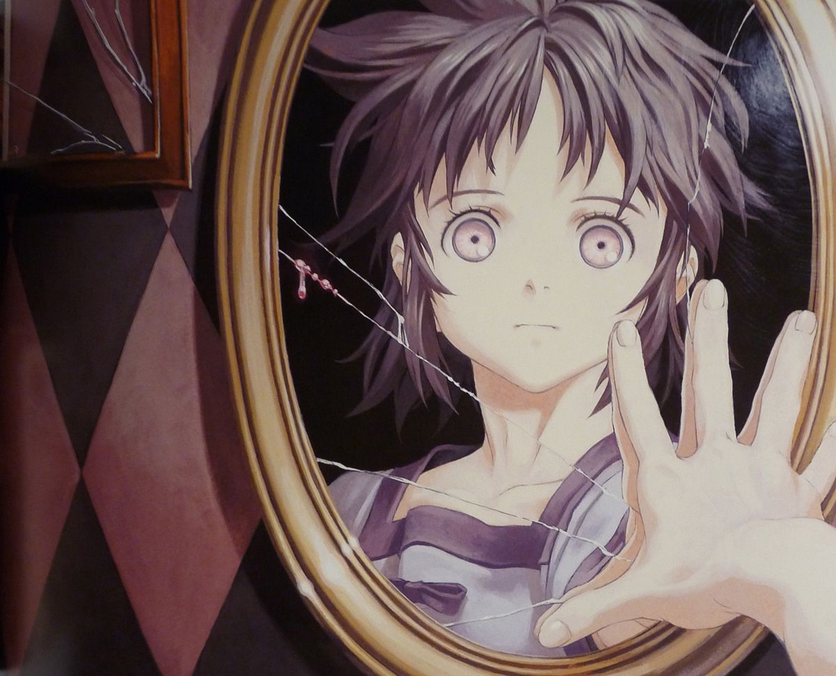 Картинки аниме девушка из зеркала