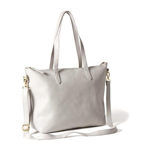 Old Navy Classic Faux Leather Zipper Tote For Women ( 39) ❤ liked on  Polyvore featuring bags, handbags, tote bags, grey, vegan handbags, tote  handbags, zip ... 4f28c51ea7