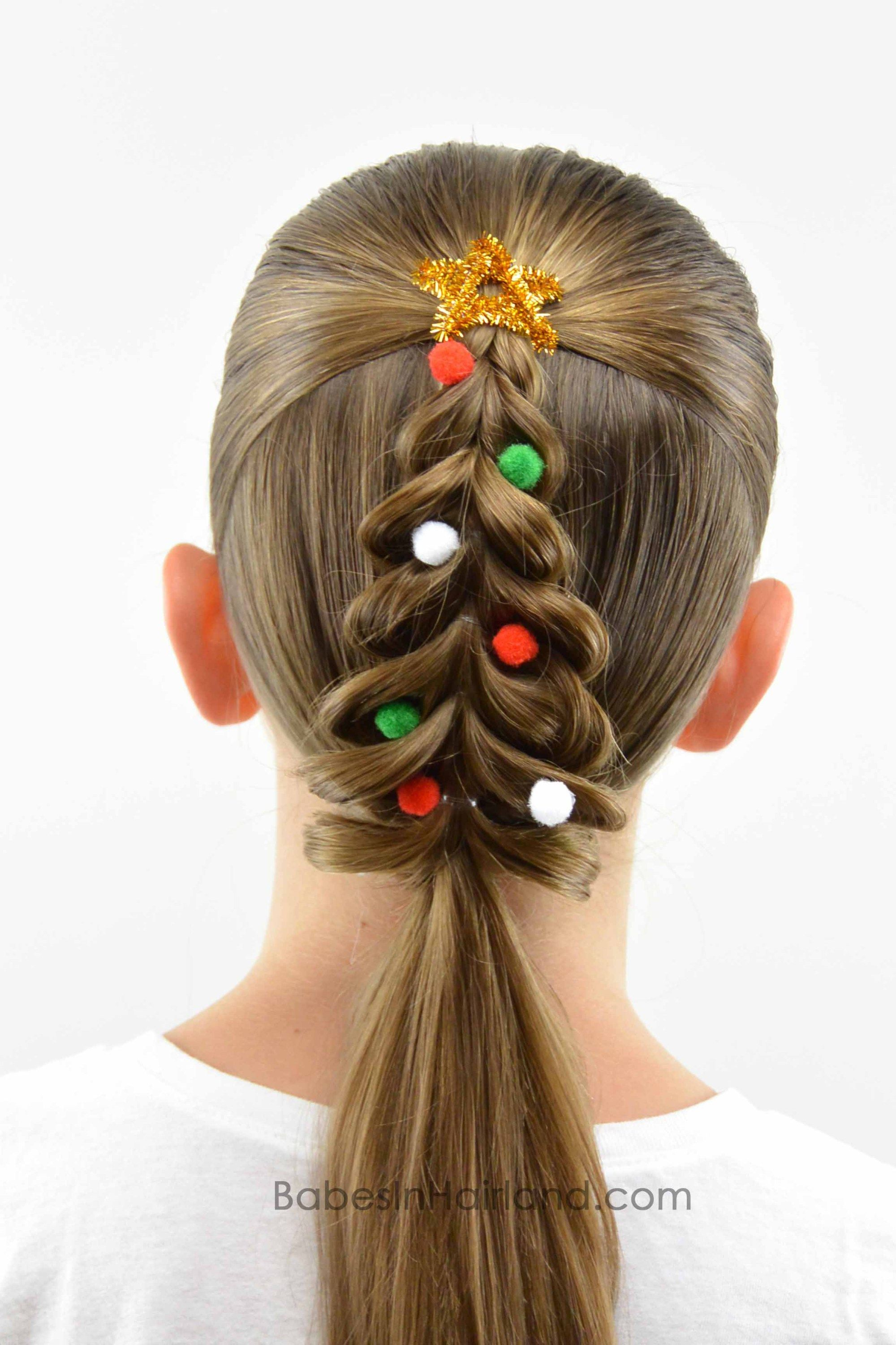 christmas tree pull-through braid | map's artistic fun