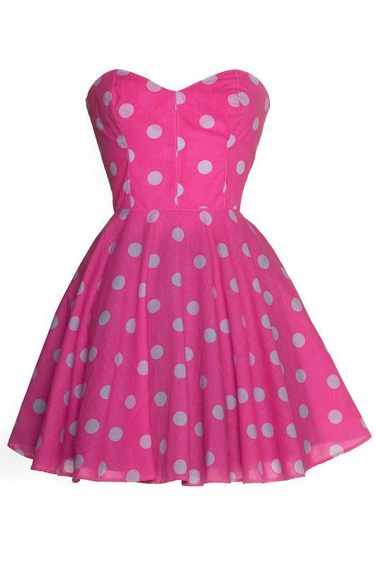 Image of Pin-up Pink Polka Dot Prom Dress | Fashions I love ...
