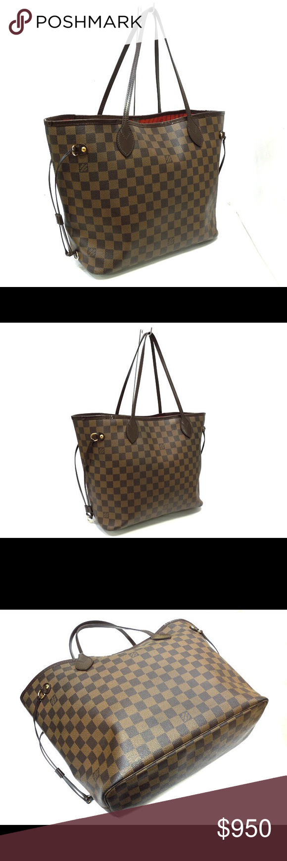 b97850e24dbc Authentic louis vuitton neverfull MM damier ebene Bag will be authenticated  by poshmark.very good condition.no trades or low offers Louis Vuitton Bags  ...
